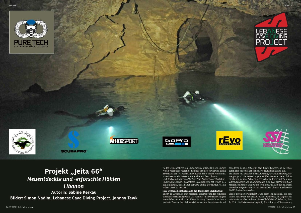 jeita cave diving expedition in Wetnotes (German)